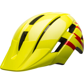 Bell Sidetrack II MIPS Casque Adolescents, hi-viz/red